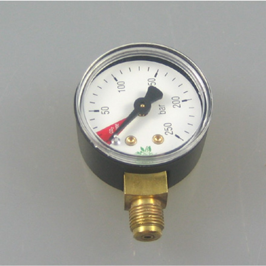 Manometer für Regler US3 0-250 bar