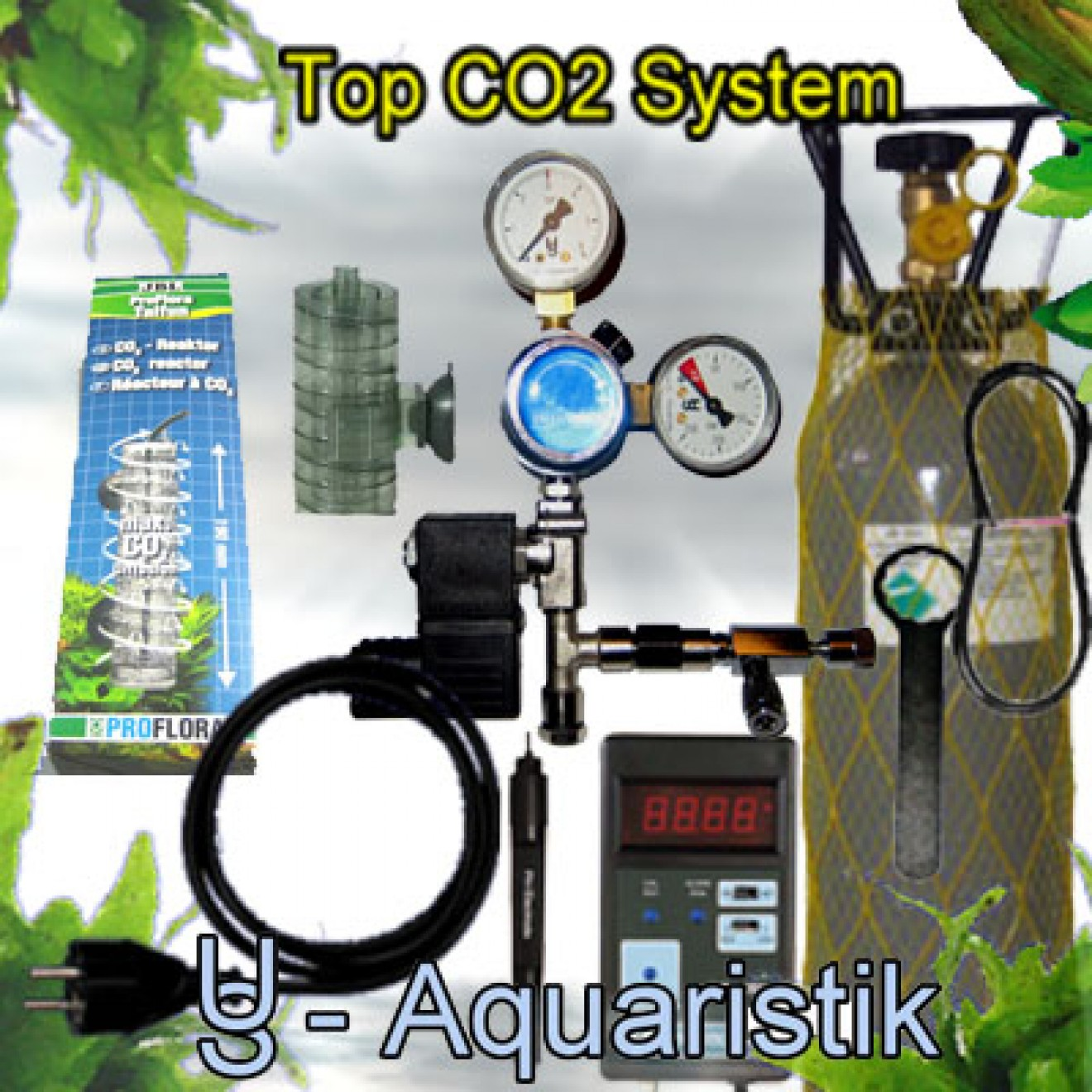 co2 anlage 450l incl nachtabschaltung 2kg vario us aquaristik. Black Bedroom Furniture Sets. Home Design Ideas