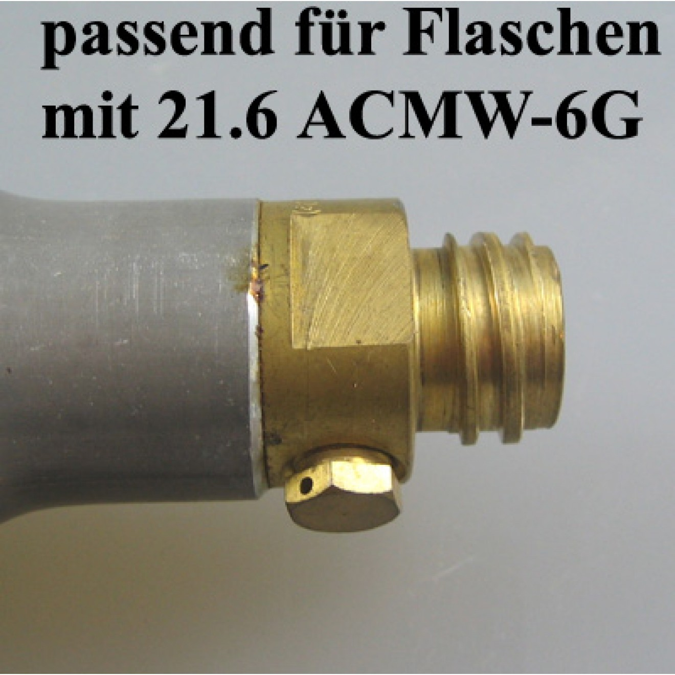 CO2 Adapter, Sprudlerflasche ACME-->W 21.8x1/14 Mutter, wechselbar